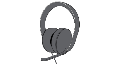 Drawing of the Xbox One Stereo Headset
