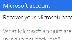 Microsoft アカウントのユーザー名を復元する