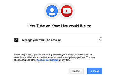Sign in to your Xbox YouTube account on Xbox 360