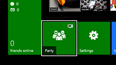 How to start a party on Xbox One