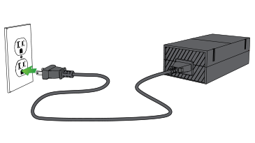 how to connect the power supply xbox one plug the other end of the ac cord into a wall outlet note plug directly into a wall outlet not into a power strip or surge protector