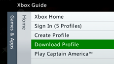 Download your Xbox Live profile to a different Xbox 360 console or redownload it