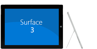 Front and side view of Surface 3