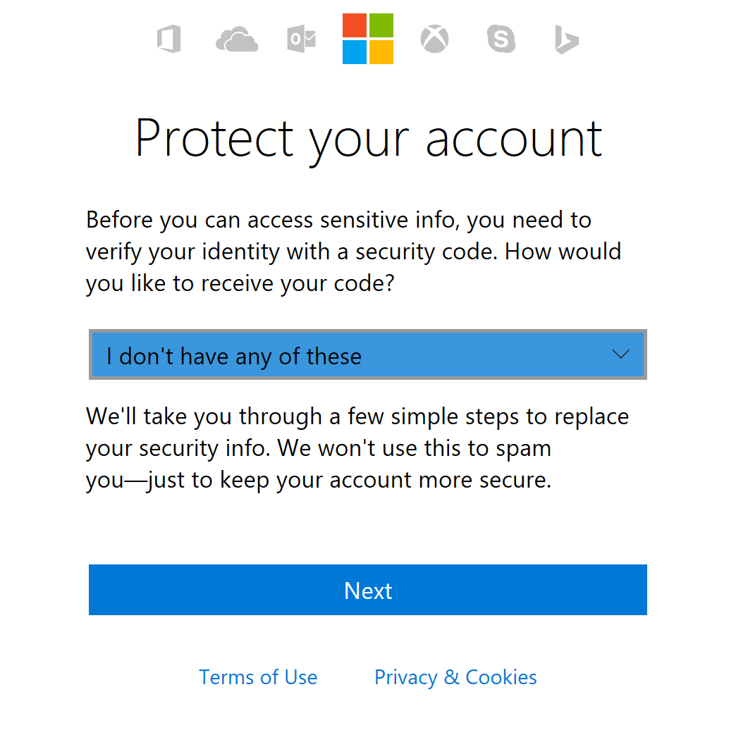 update your microsoft account security info for xbox live