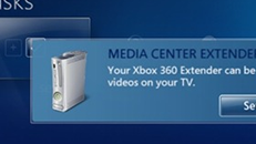 Folders monitored by default with Xbox 360 as Windows Media Extender