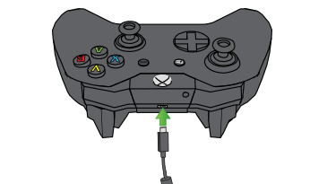 In an illustration, an arrow emphasises the expansion port on the Xbox One Wireless Controller.