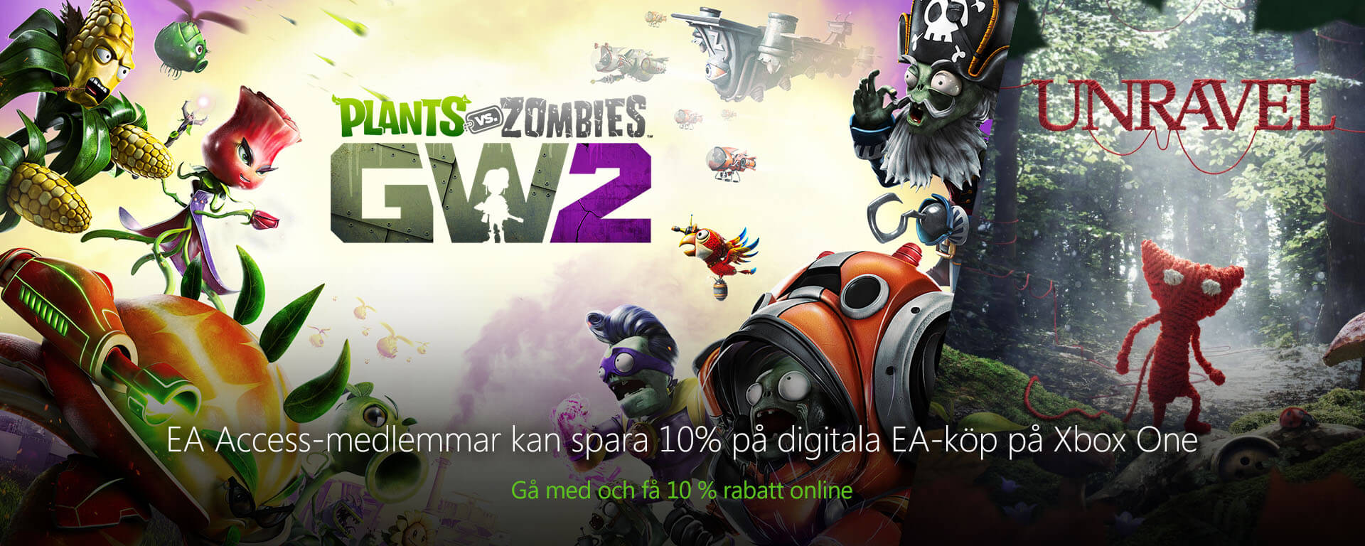 Plants vs Zombies: Garden Warfare 2 | Unravel | EA Access | Xbox One