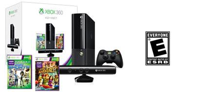 Xbox 360 4GB Kinect Holiday Bundle