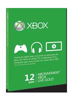 Carte d'abonnement Xbox Live Gold de 12 mois