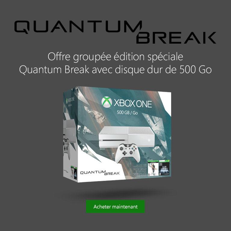 Offre groupée édition spéciale Quantum Break avec disque dur de 500 Go