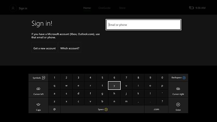 Pantalla de Inicio de sesión con el teclado en pantalla