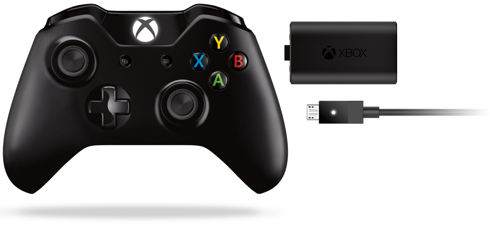 Xbox One Wireless Controller mit Play and Charge-Kit