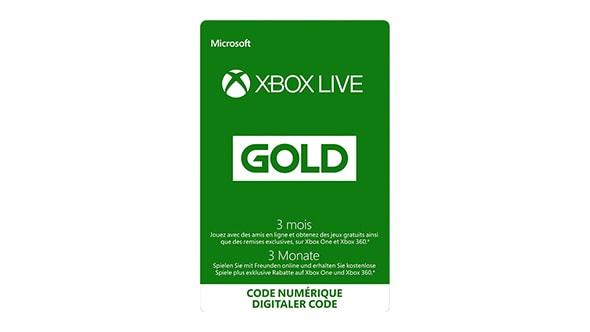 Xbox Live Gold Abo für 3 Monate