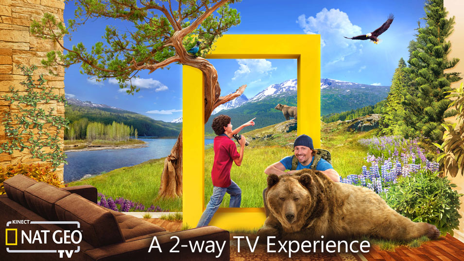 Kinect Xbox 360 Nat Geo 2 way TV experience