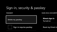 Delete the passkey on your Xbox One console