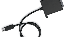 Use the Xbox 360 Hard Drive Transfer Cable