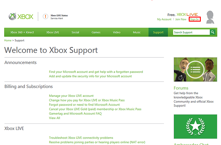 you sign in using the Microsoft Account associated with the Xbox Live