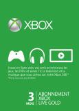 Prepaid Xbox LIVE Gold-lidmaatschap van 3 maanden