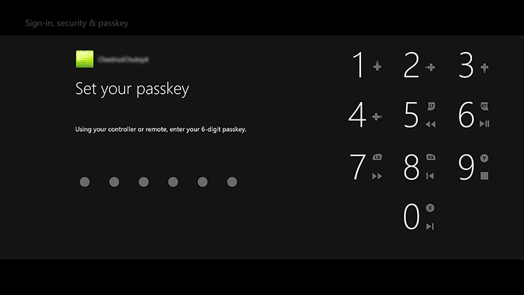 The 'Set your passkey' screen includes a digital number pad.