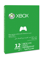 Xbox Live Gold 12 hónapos előfizetési kártya