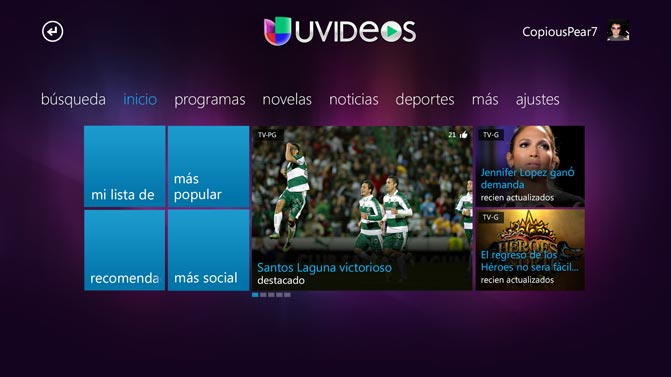 Univision on Xbox360