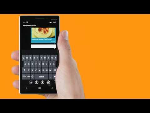Entdecke Lumia: SMS und Chat