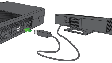 Your kinect sensor to your xbox one s or original xbox one console