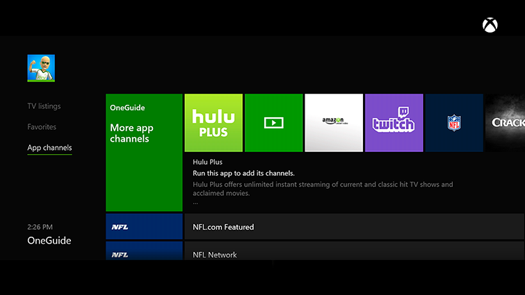 tv channel apps xbox one charter tv