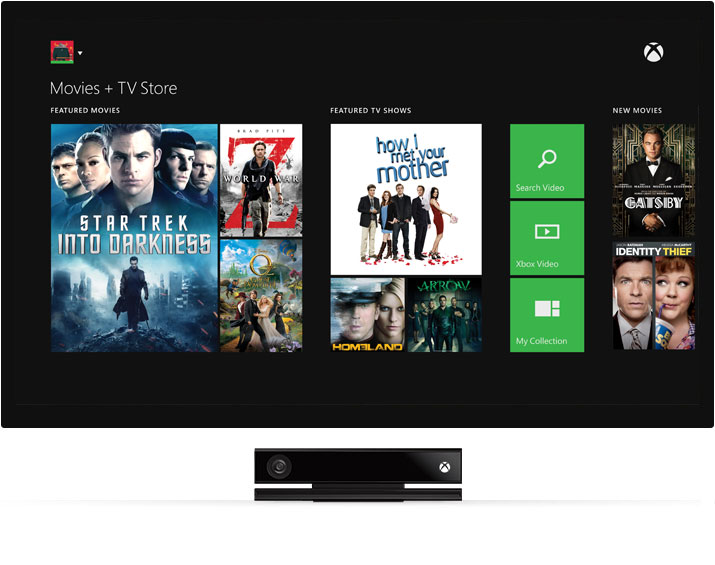 Xbox One Movies and TV