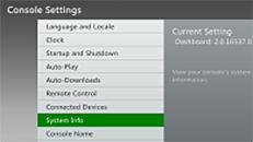 Encontrar el número de serie de Xbox 360, número de serie del sensor Kinect e ID de la consola Xbox 360