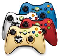 Коллекционный беспроводной геймпад Xbox 360 Chrome Series