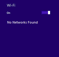 No available networks