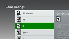 Xbox 360 본체에서 사용되는 게임 등급 시스템