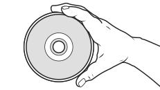 一手就著邊緣拿起光碟。