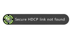 """Secure HDCP link not found"" error when playing a DVD or streaming a Netflix movie on Xbox 360"