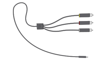 Illustration of the Xbox 360 Composite AV Cable