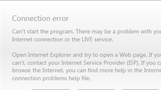 Games for Windows Live connection error