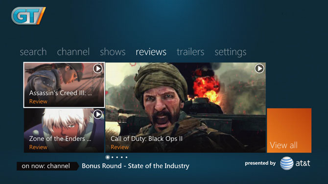 GameTrailers on Xbox360