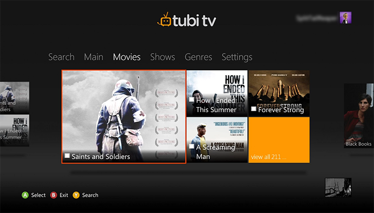 movie watching apps xbox