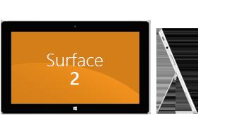 Surface2 de face et de profil