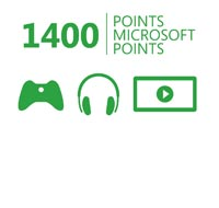 Xbox Live 1400 Microsoft Points