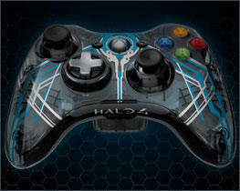 The Limited Edition Halo 4 wireless controller