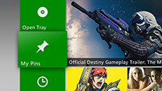 The My Pins feature of the Xbox 360 Dashboard