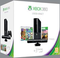 Οικονομικό Πακέτο Xbox 360 250GB Kinect