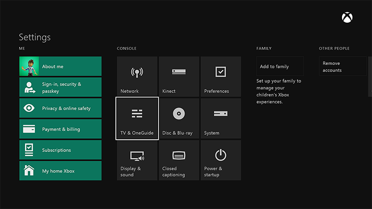 how to make xbox one change the tv channel