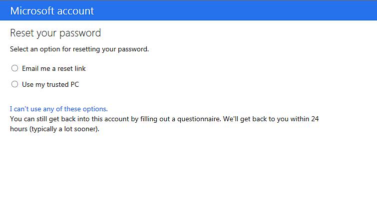 forgot my xbox live password