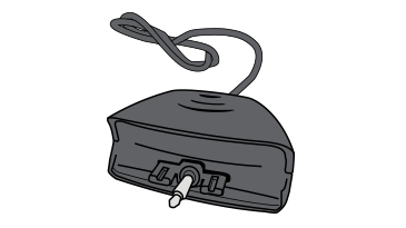 An illustration of an early Xbox 360 Headset adapter