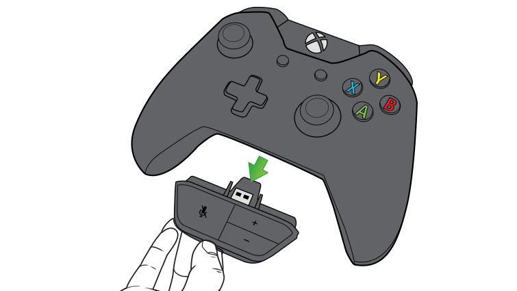 An arrow in an illustration emphasises unplugging the headset controls from the controller.