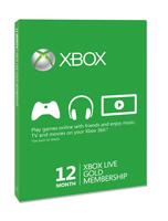 Tarjeta de suscripción Gold a Xbox Live de 12 meses