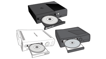 Open disc drives on Xbox 360 consoles